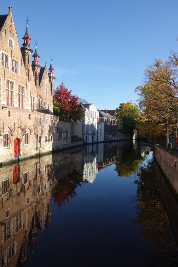 Das wunderschöne Wetter am Sonntagmorgen in Brugge