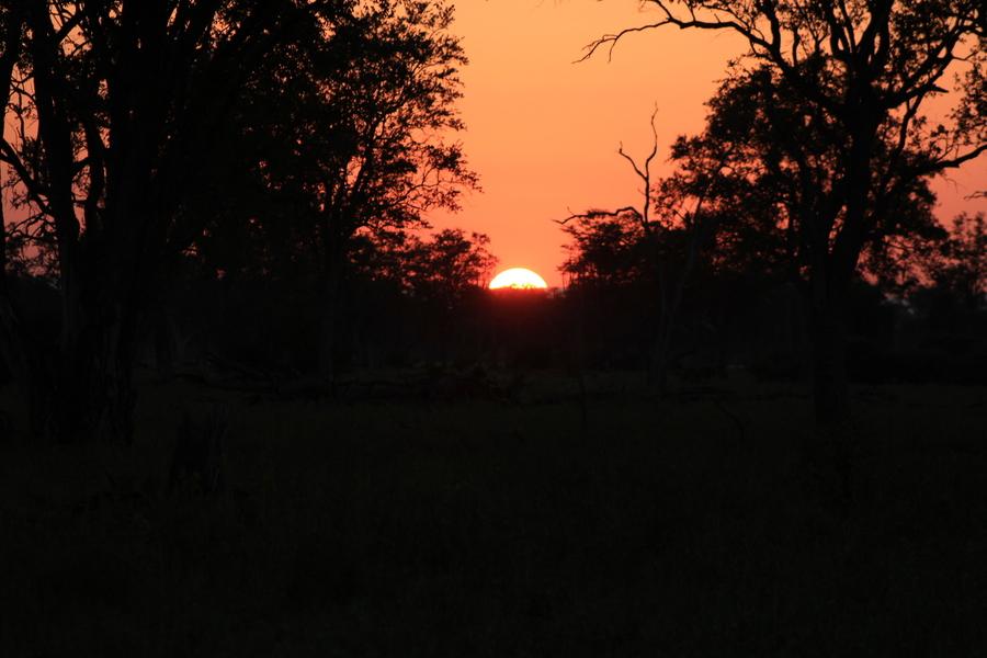 Zum Abschluss der Erinnerungen ein Sonnenuntergang.