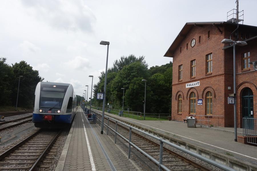 GTW 2/6 der UBB in Wolgast Bf